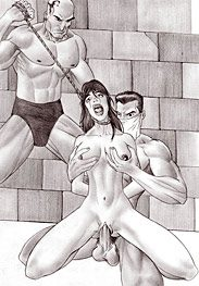 Sex slaves - just open your mouth, you stupid cunt, it's only spunk by Leandro