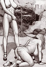 Slave training - a toothless pig gives a nice blow job for sure by Badia