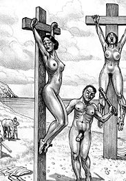 Roman crucifixions - now get ready for a harsh double fuck, as you can see we're well hung by Marcus